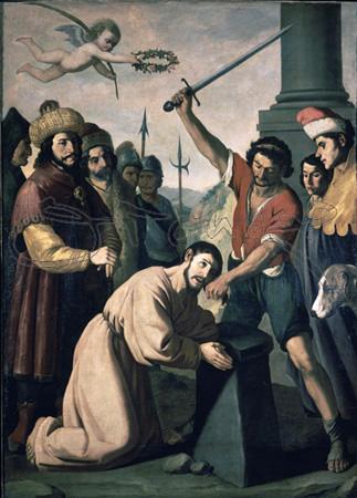 martirio de santiago por zurbaran